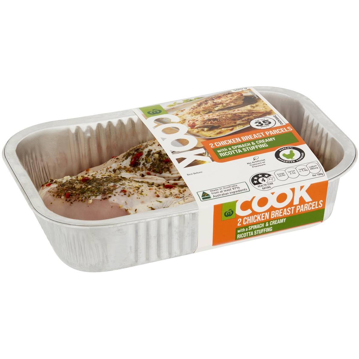 Woolworths Cook Chicken Breast Parcels With Spinach Ricotta