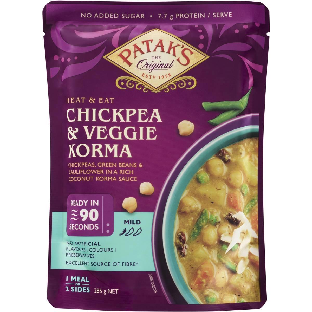 Patak's Butter Chickpeas & Veggies Heat & Eat