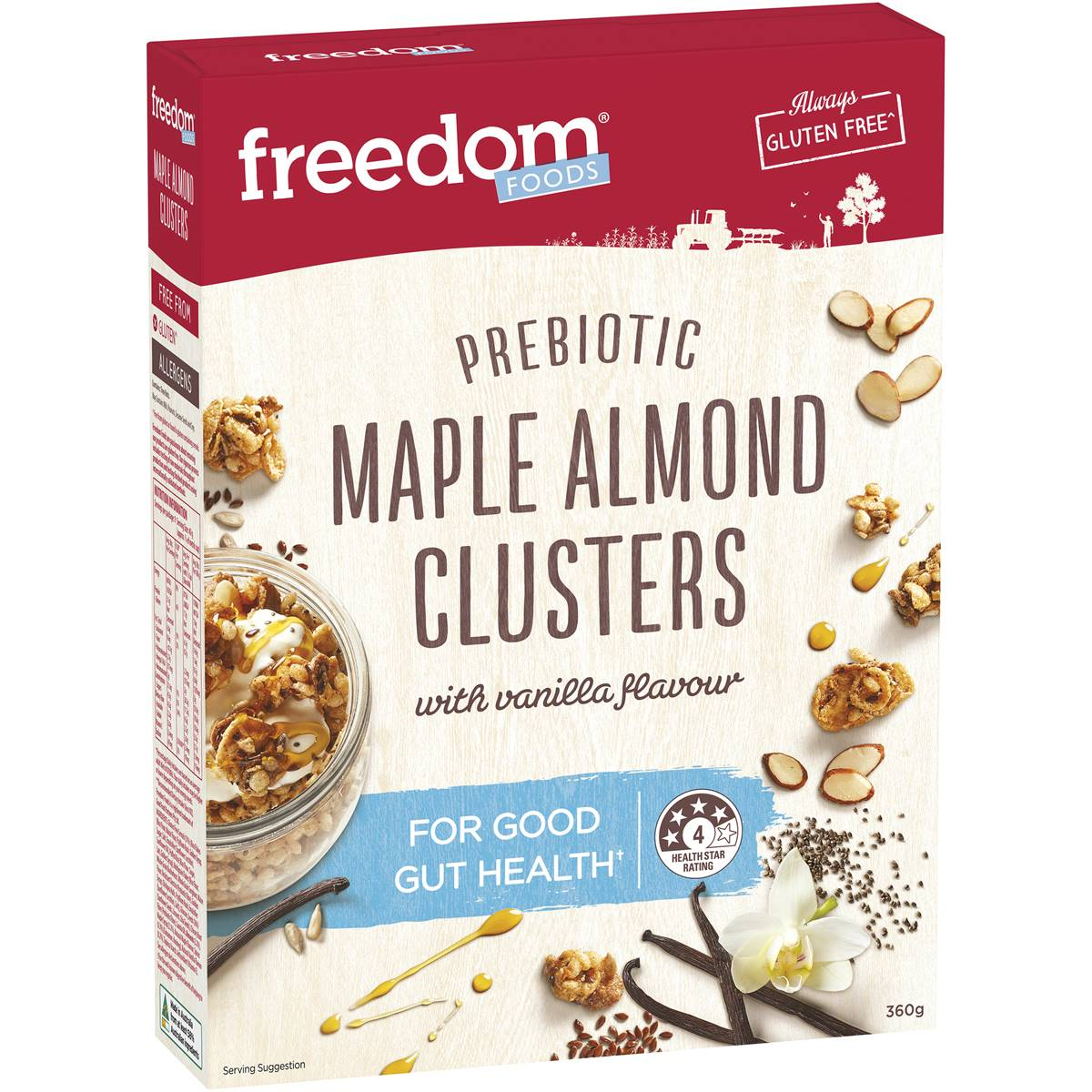 Freedom Foods Prebiotic Maple Almond Clusters