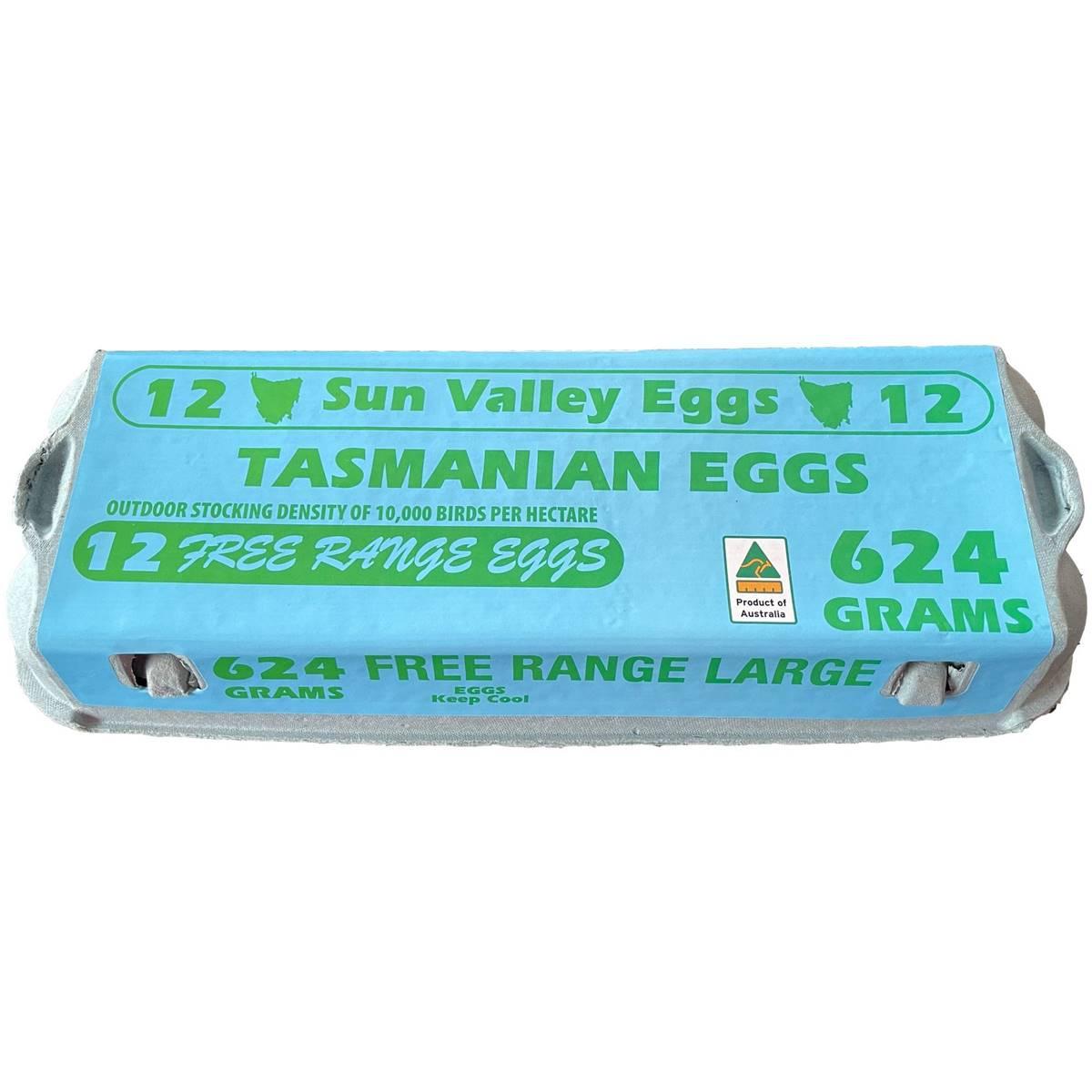 Sun Valley 12 Large Free Range Eggs