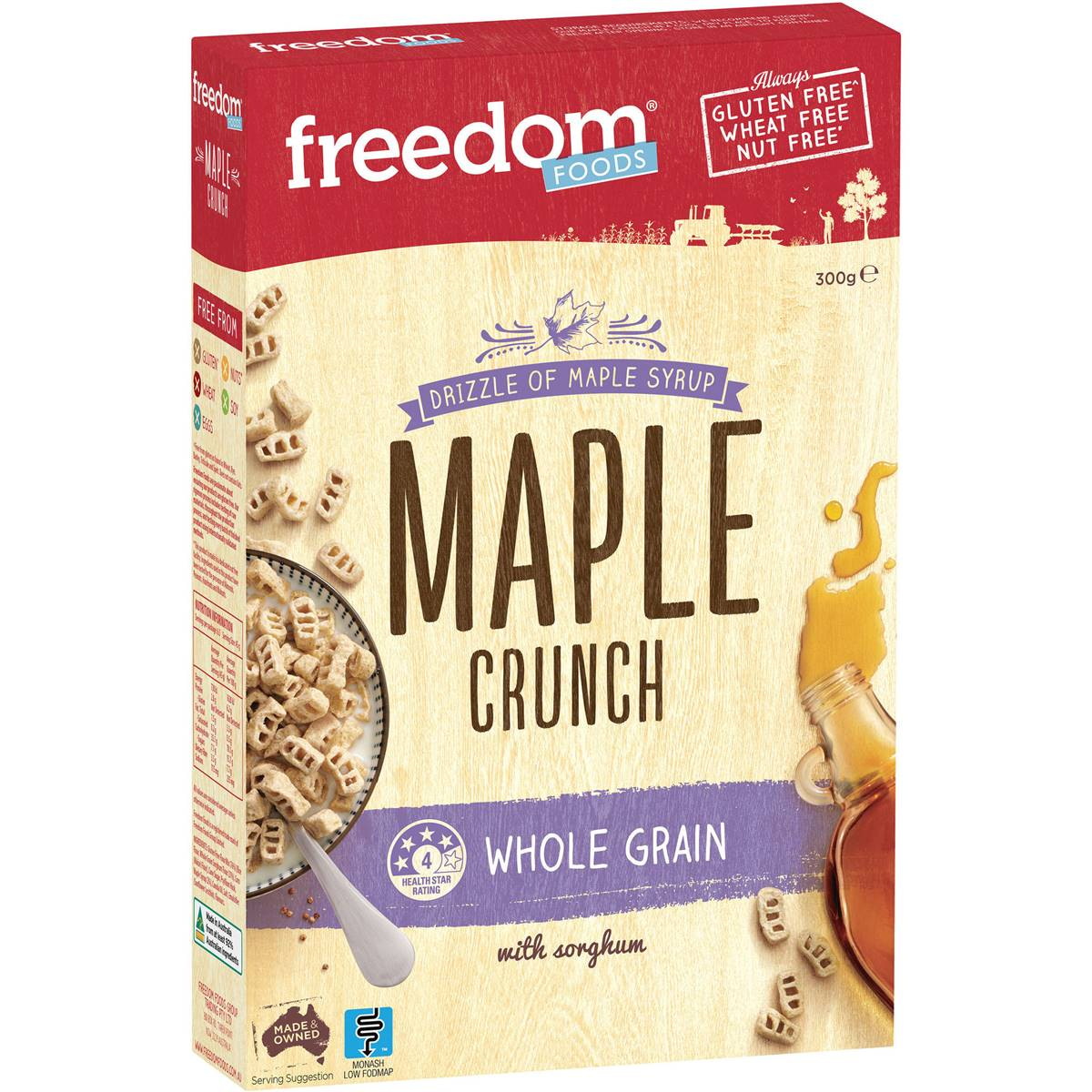 Freedom Foods Cereal Ultra Rice Maple Crunch