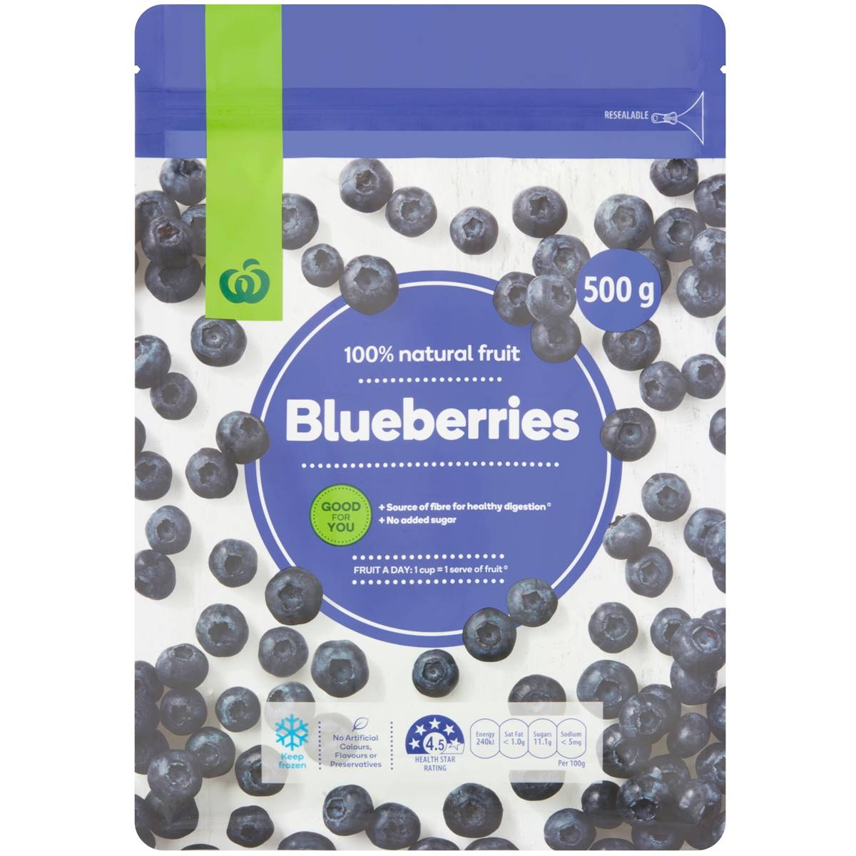 Woolworths Frozen Blueberries
