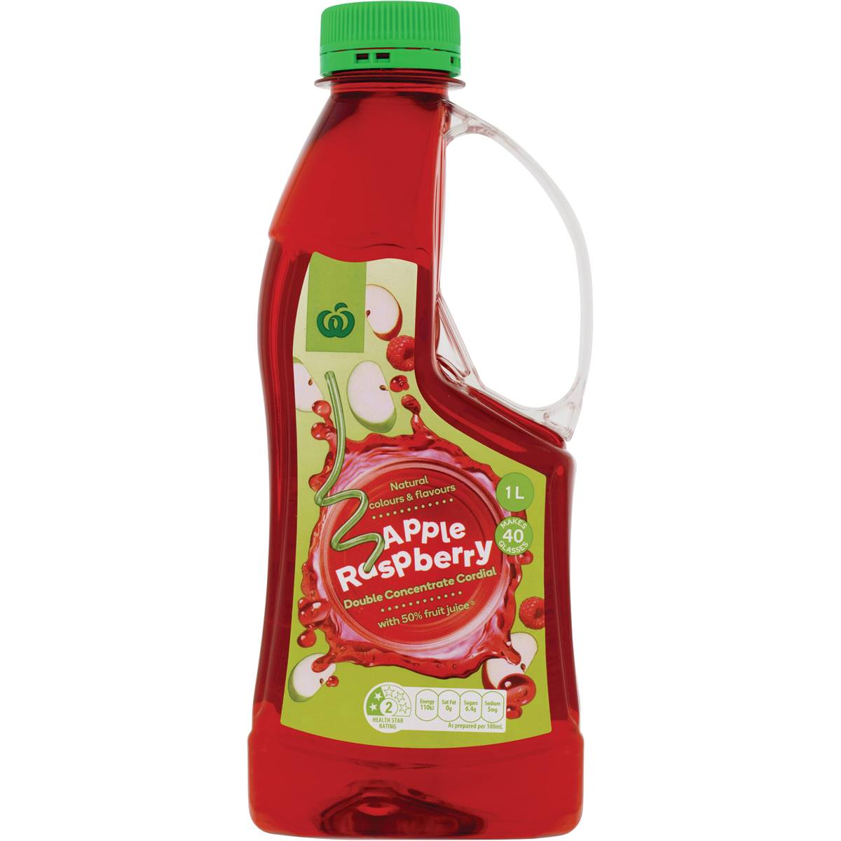 Woolworths Apple Raspberry Double Concentrate Cordial