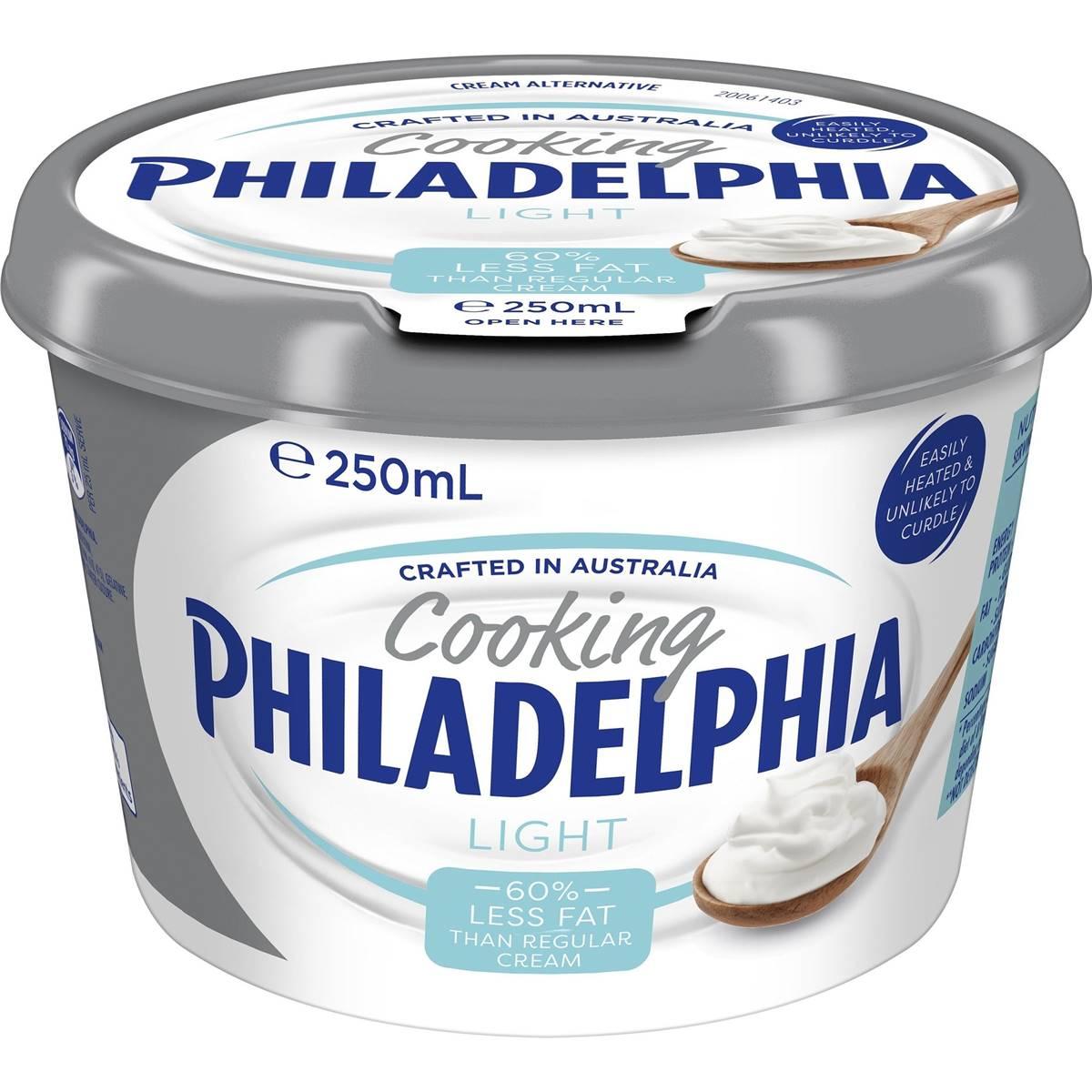 Philadelphia Cream For Cooking Light 250ml