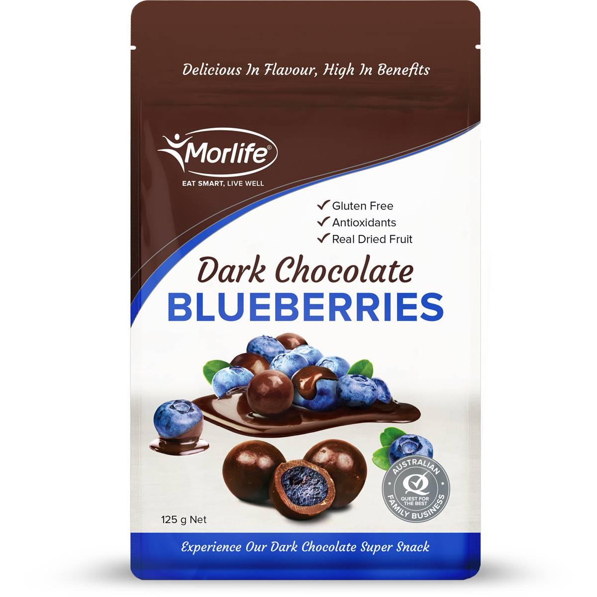 Morlife Snacks Blueberries Dark Choc Coated