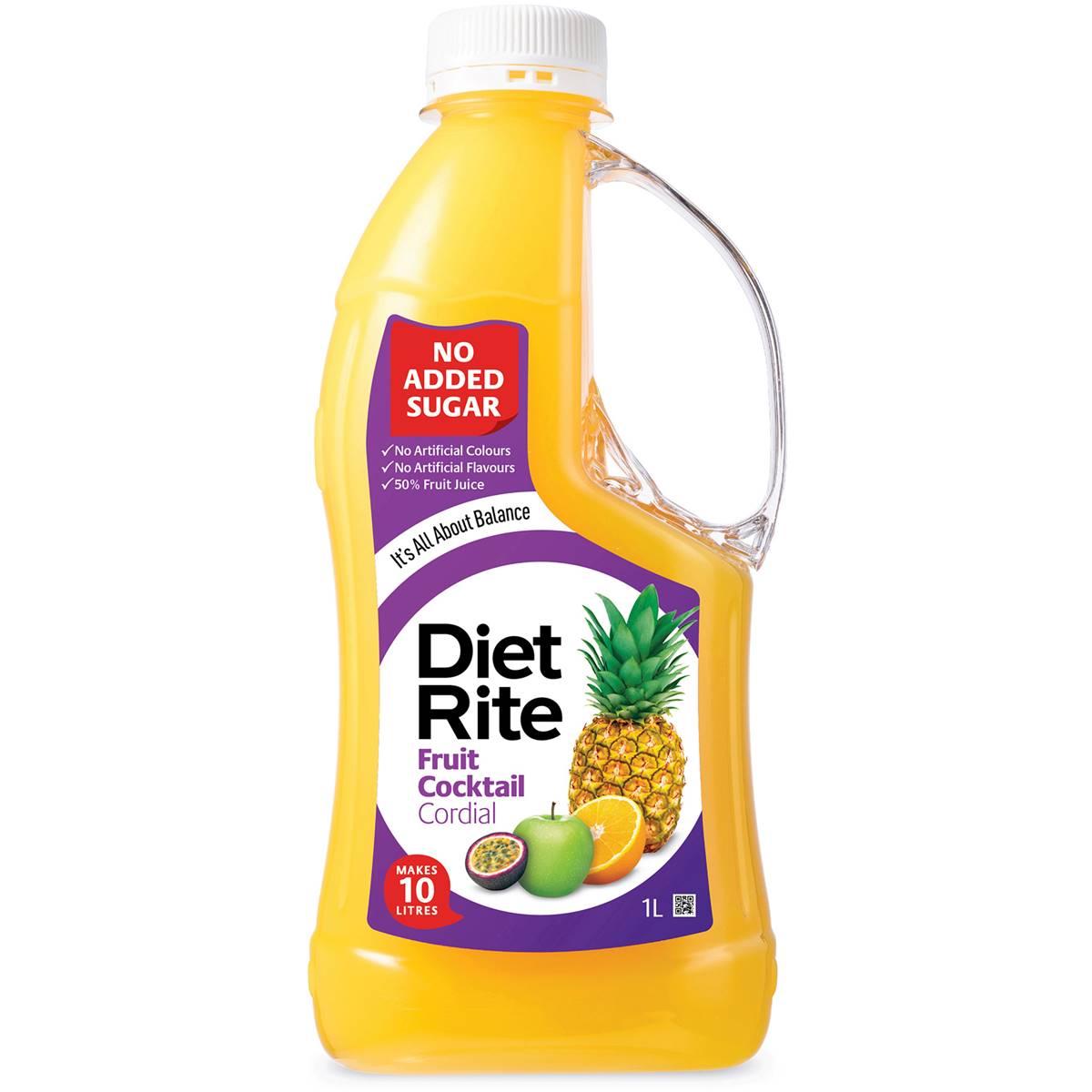 Diet Rite Cordial Fruit Cocktail