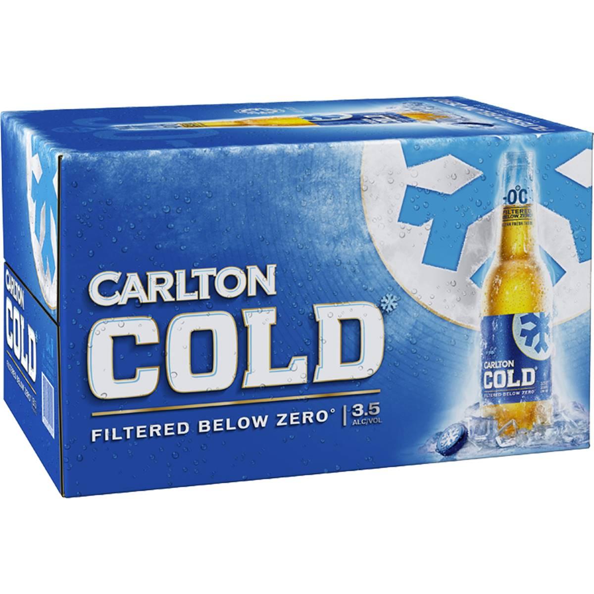 Carlton Cold Lager 3.5% Bottles