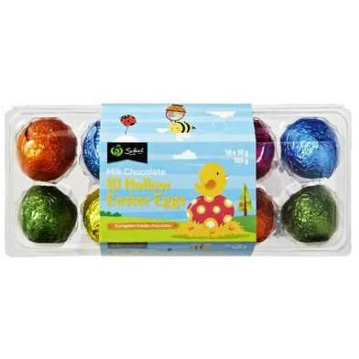 Woolworths milk chocolate hollow easter eggs 10pk 180g woolworths woolworths milk chocolate hollow easter eggs 10pk 180g negle Images