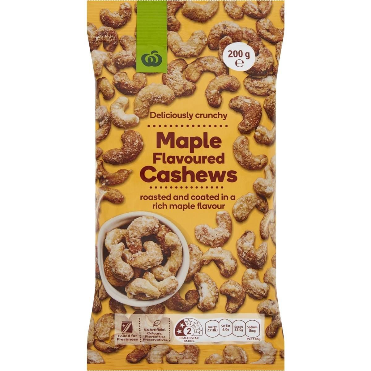 Woolworths Cashews Maple Flavoured