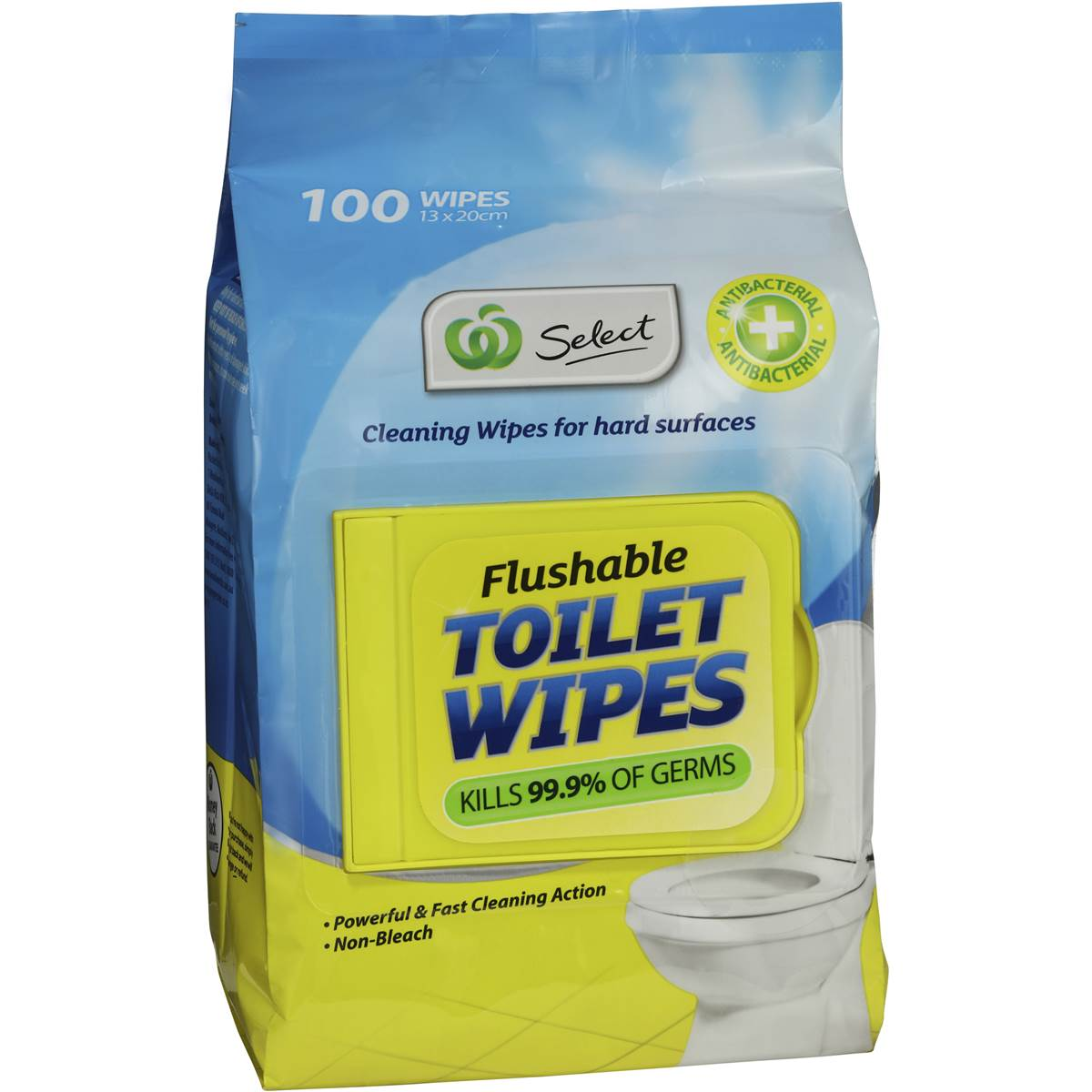 Woolworths Select Toilet Cleaner Flushable Wipes 100pk Woolworths