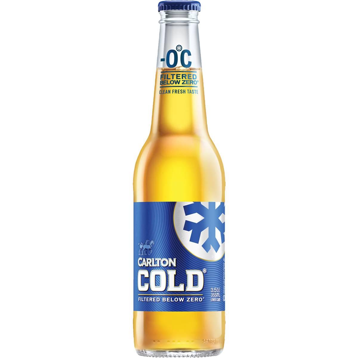 Carlton Cold Lager 3.5% Bottle
