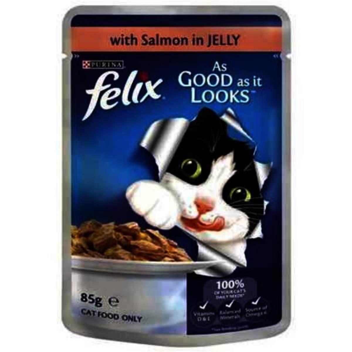 Felix Adult Cat Food Salmon 85g Woolworths