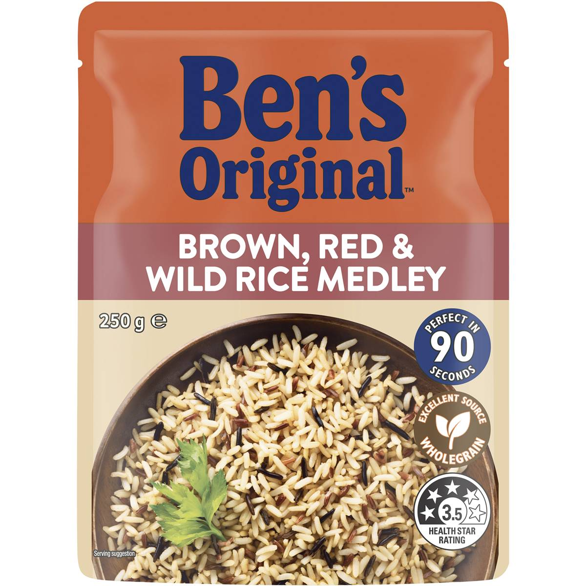 Uncle Ben's Microwave Brown Red & Wild Rice Medley