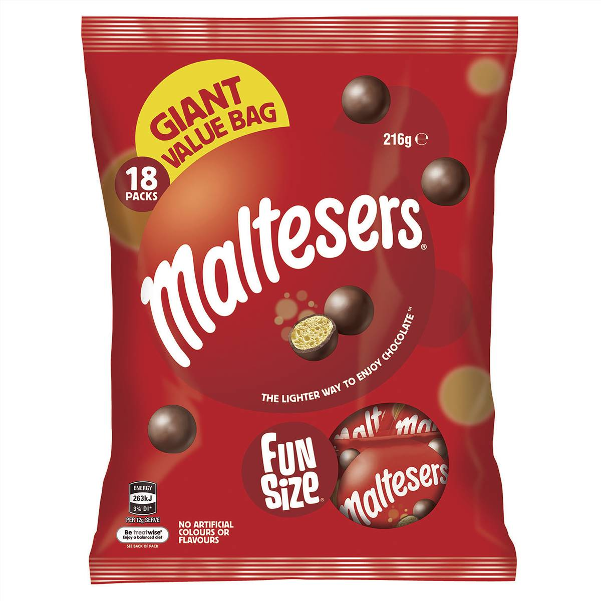 Maltesers Milk Chocolate Large Party Share Bag 18 Piece