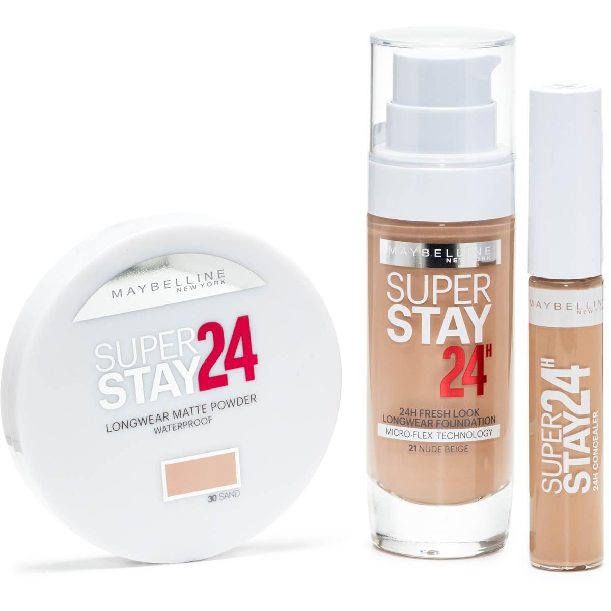 7cd23e5fa88 Maybelline Superstay 24hour Pump Nude Beige Foundation, Concealer ...