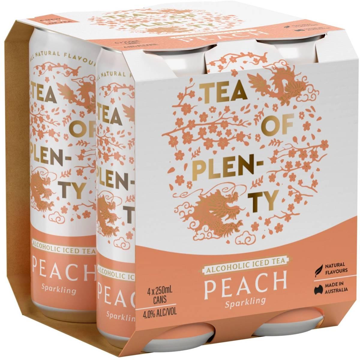 Tea Of Plenty Vodka Peach Iced Tea Cans