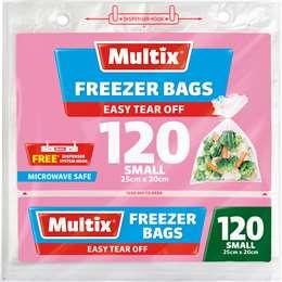 multix freezer bags small tear off 120pk