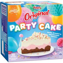 Peters Ice Cream Cake Party 15l Woolworths