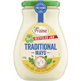 praise mayonnaise traditional 470g woolworths