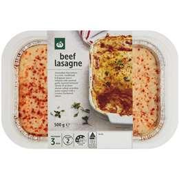 Woolworths Beef Lasagne 500g Woolworths