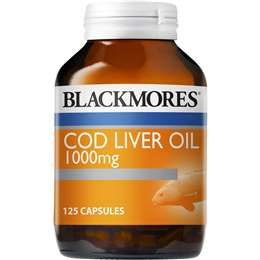 Blackmores Super Strength Cod Liver Oil Capsules 1000mg 125 pack