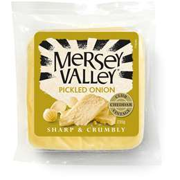 Mersey Valley Pickled Onion Cheddar Cheese 235g