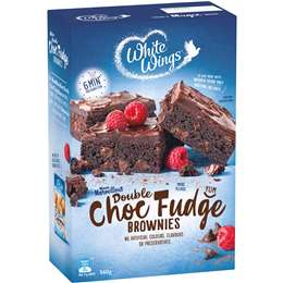 white wings brownie mix double chocolate fudge 560g woolworths
