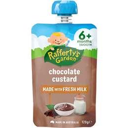 Rafferty's Garden Food 6 Months Chocolate Custard 120g