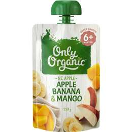 Only Organic 6 Months+ Apple Banana & Mango 120g