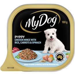 My dog tasmanian salmon with vegetables toppings wet dog food tray my dog puppy chicken mince with rice carrot spinach wet dog food tray 100g forumfinder Choice Image