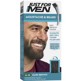 Just For Men Moustache & Beard Dark Brown 70g | Woolworths