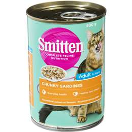 Smitten Cat Food Chunky Sardines 400g