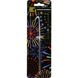 Sparkler Number 1 Gold Or Silver Each