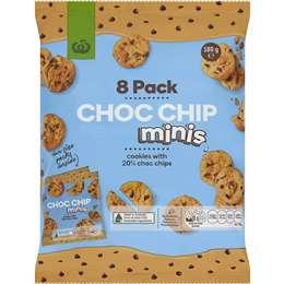 9952c839091 Woolworths Choc Chip Minis 8pk 180g