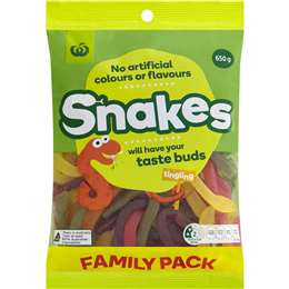 Woolworths Snakes  650g