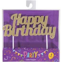 Happy Birthday Cake Topper Each