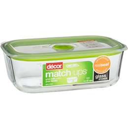 Decor Match Ups Glass Storer Oblong 1 5l Woolworths