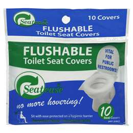 Seatease Toilet Seat Cover Disposable 10 Pack