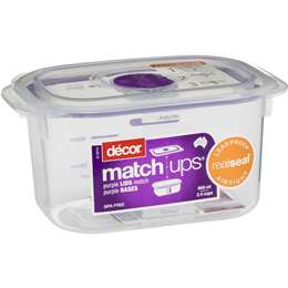 Decor Match Ups Storer Tall Oblong 800ml Woolworths
