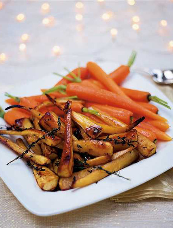 How do you make honey roasted carrots and parsnips